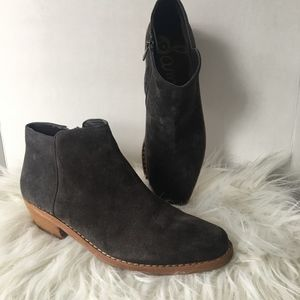 Sam Edelman Suede Ankle Boots Sz 9 NWOT Gray/Brown